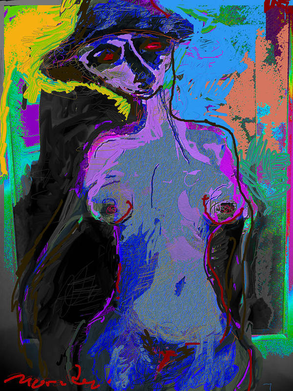 Colors Art Print featuring the painting Mystry Of The Solar Eyes by Noredin Morgan
