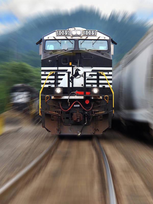 Norfolk Southern Railway Art Pixels