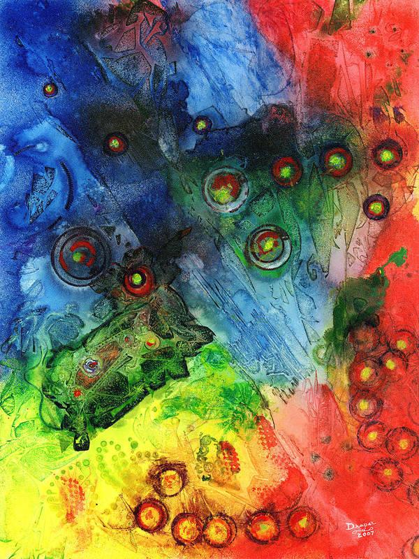Nano Particles Art Print featuring the painting Nanobotica by James Douglas Draper