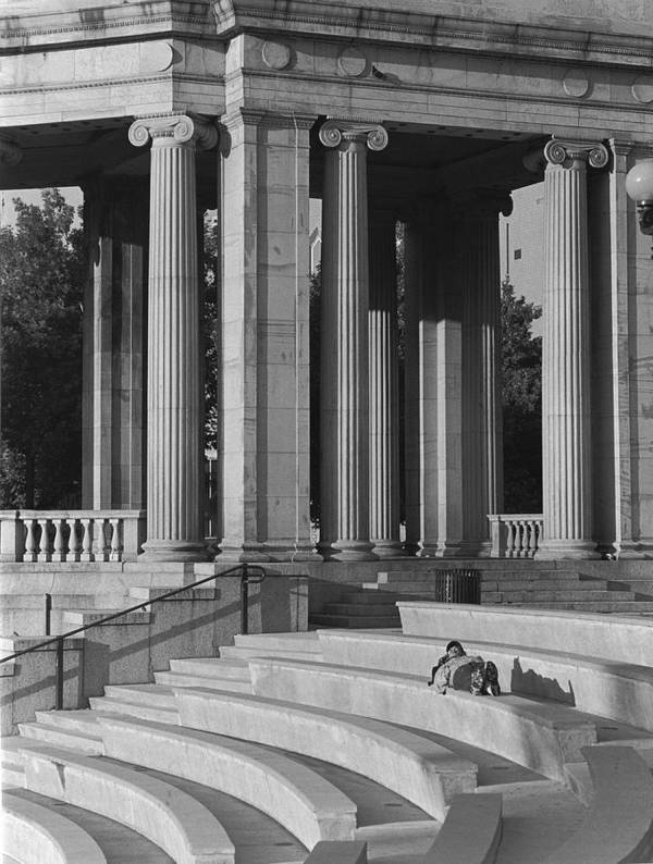 Architecture Art Print featuring the photograph Nap In Civic Park by Jim Furrer