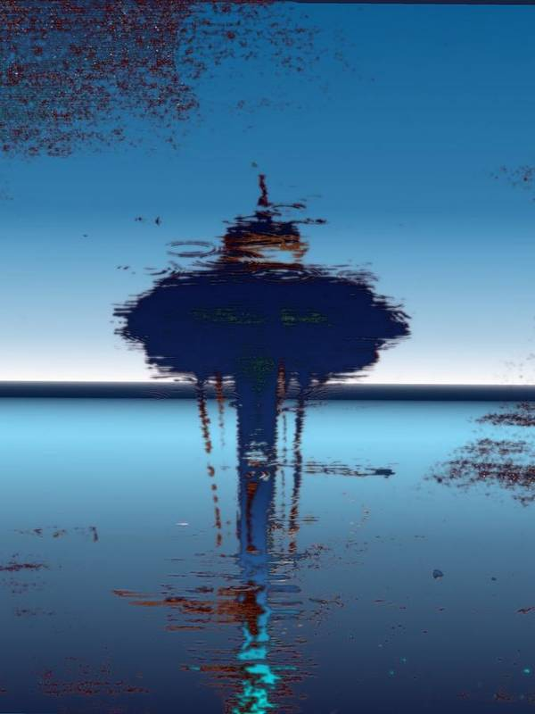 Seattle Art Print featuring the digital art Needle In A Raindrop Stack 4 by Tim Allen