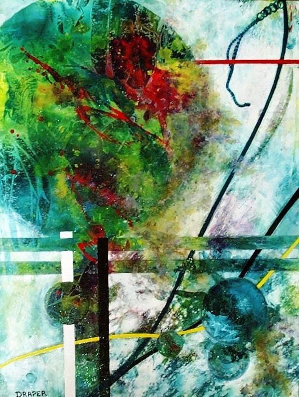Quantum Series Art Print featuring the painting Nerak Five by James Douglas Draper