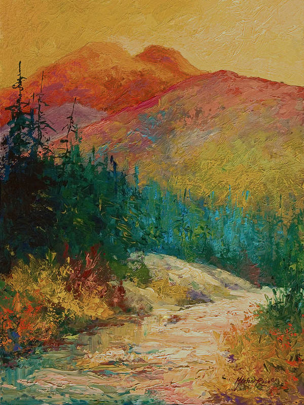 Alaska Art Print featuring the painting Northern Essence by Marion Rose