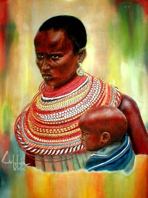 Maasai Art Print featuring the painting Not My Son by G Cuffia