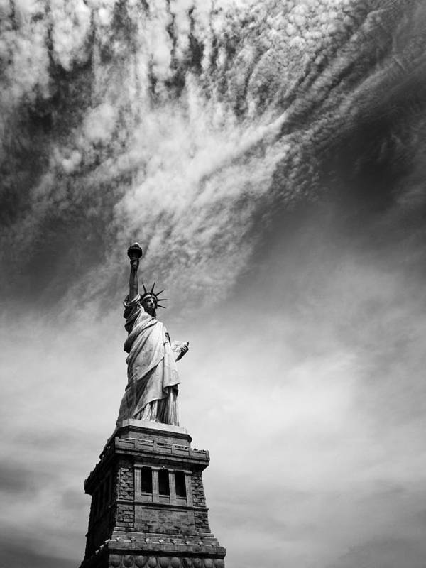 Ny Print featuring the photograph Nyc Miss Liberty by Nina Papiorek