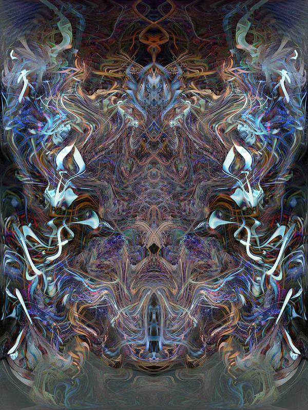 Deep Art Print featuring the digital art Oa-4834 by Standa1one