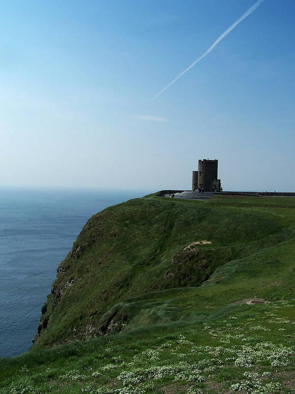 Irish Art Print featuring the photograph O'brien's Tower At The Cliffs Of Moher Ireland by Teresa Mucha
