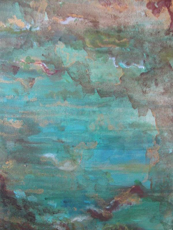 Ocean Art Print featuring the painting Ocean by Lindie Racz