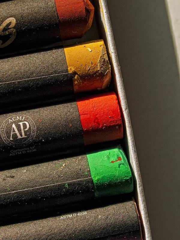 Oil Crayons Art Print featuring the photograph Oil Crayons by Robert Ullmann