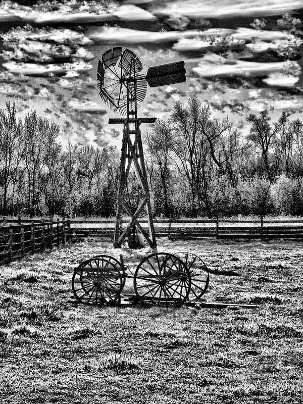 My Art Photos Art Print featuring the photograph Old Windmill 2 by Dennis Sullivan