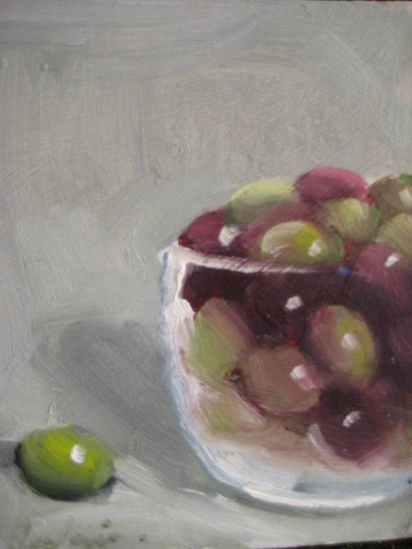 Still Life Art Print featuring the painting Olives by Susan Jenkins