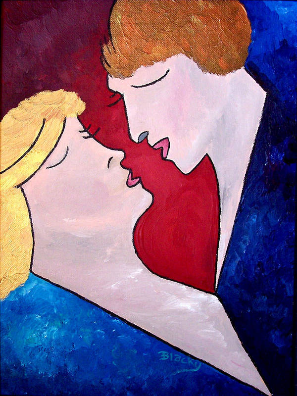Man Art Print featuring the painting One Heart by Donna Blackhall