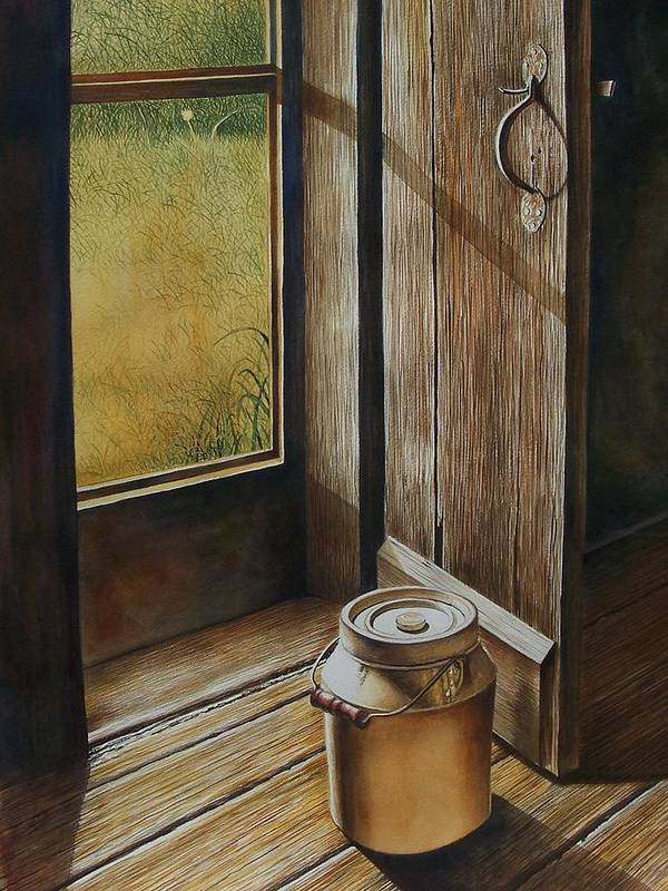 Still Life Or Landscape Art Print featuring the painting Open Door by Arnold Hurley