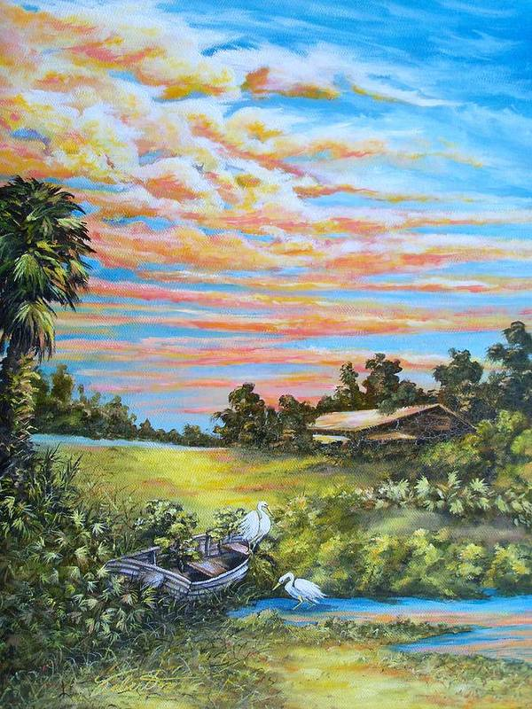 Landscape Art Print featuring the painting Out Of Commission by Dennis Vebert
