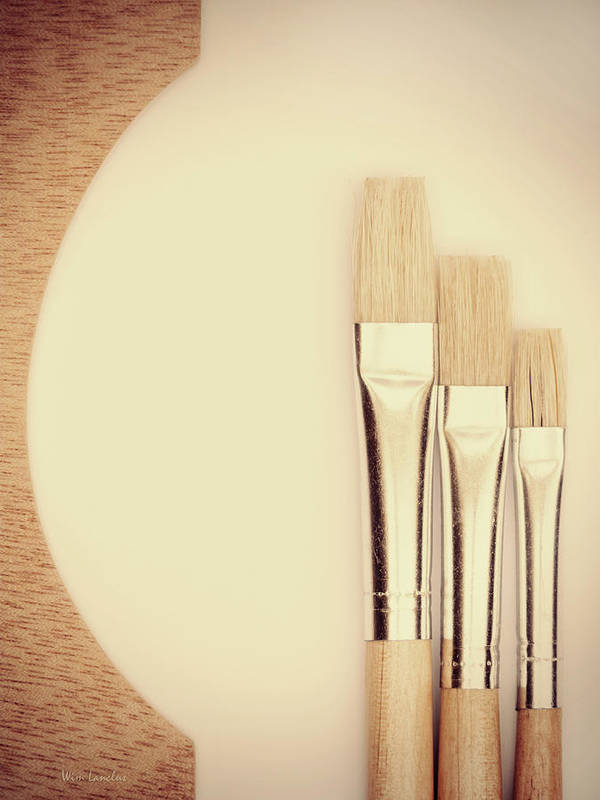 Painting Art Print featuring the photograph Painting Tools by Wim Lanclus