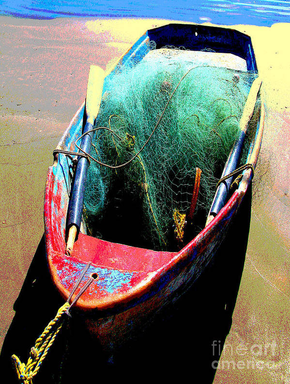 Michael Fitzpatrick Art Print featuring the photograph Pangas And Nets 1 By Michael Fitzpatrick by Mexicolors Art Photography