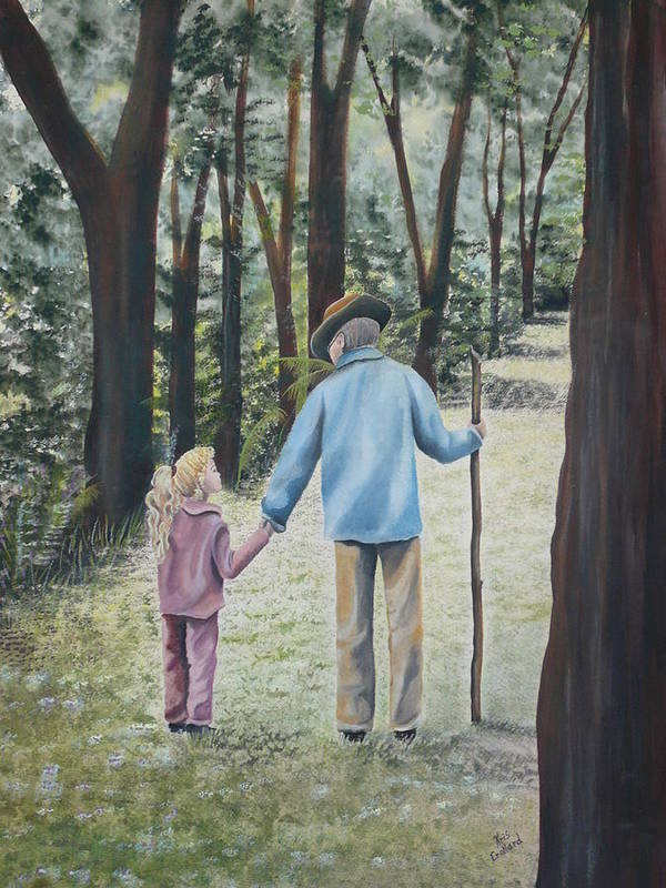 Grandfather Art Print featuring the painting Papa by Kris Crollard