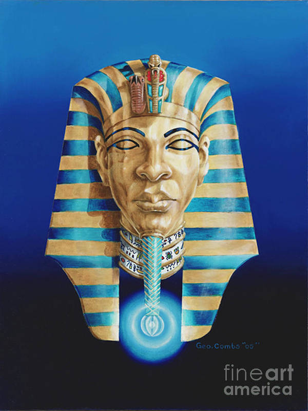 Hieroglyphics Art Print featuring the painting Pharaoh by George Combs