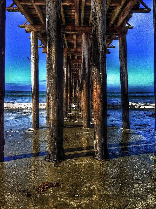 Cayucos Pier Art Print featuring the photograph Pier by John Aguillon