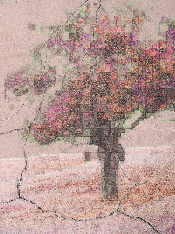 Tree Art Print featuring the photograph Pink Plaster by Tingy Wende