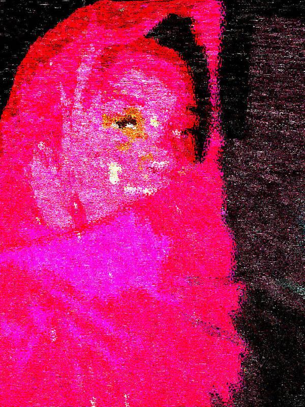 Fania Simon Art Print featuring the painting Pink Survivor by Fania Simon