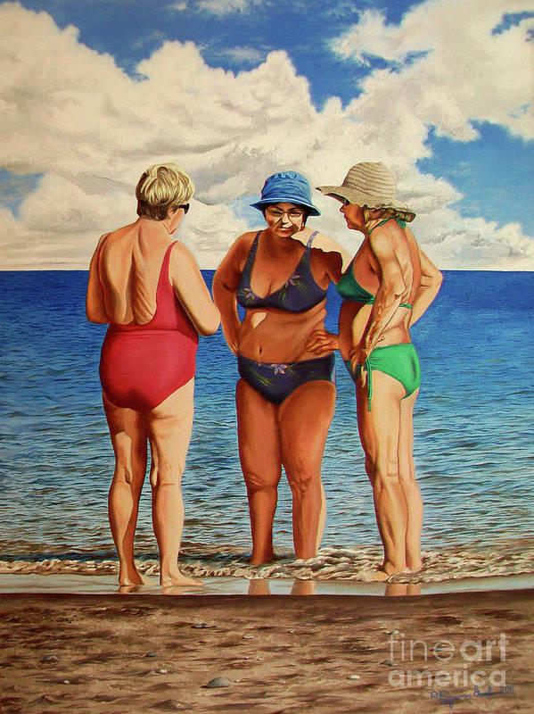 Woman Art Print featuring the painting Profound Matters - Asuntos Profundos by Rezzan Erguvan-Onal