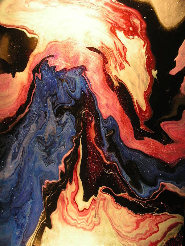 Abstract Art Print featuring the painting Pyroclastic by Patrick Mock