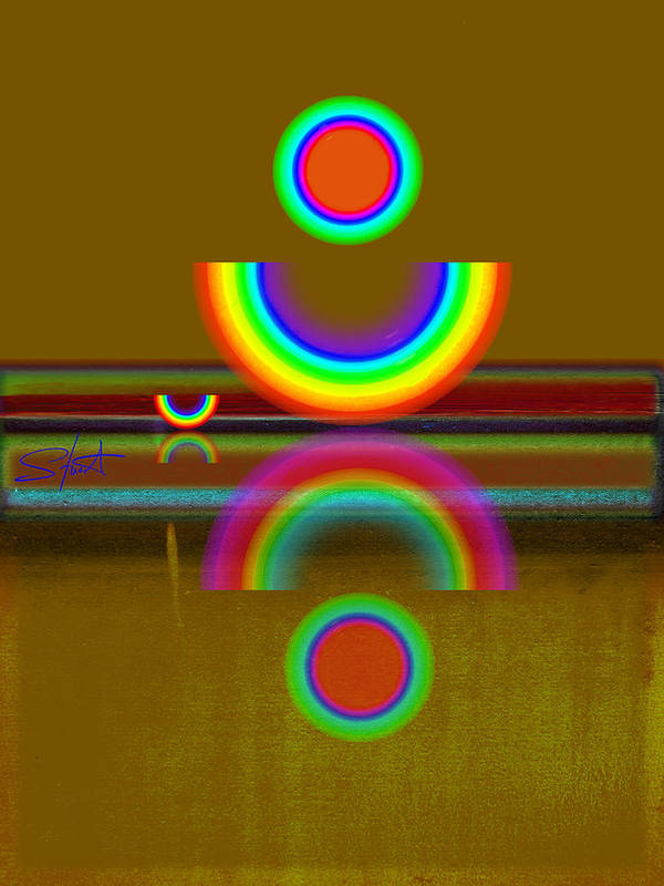 Reflections Art Print featuring the painting Rainbow Warrior by Charles Stuart