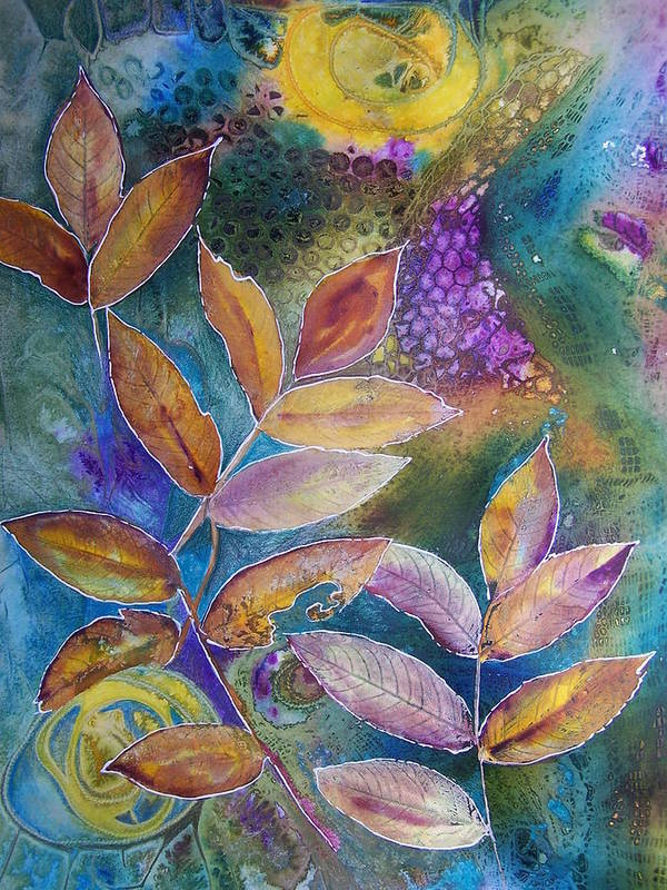 Mixed Media Art Print featuring the painting Rays Of Hope by Vijay Sharon Govender