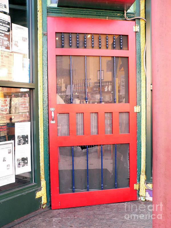 Door Art Print featuring the photograph Red Door by David Bearden
