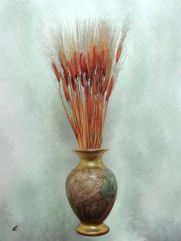 Contemporary Art Print featuring the painting Red Wheat By Rafi Talby by Rafi Talby
