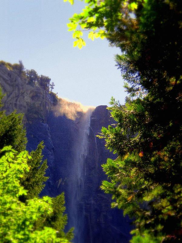 Bridalveil Falls Art Print featuring the photograph Refreshing The Soul - Bridalveil Yosemite by Glenn McCarthy Art and Photography
