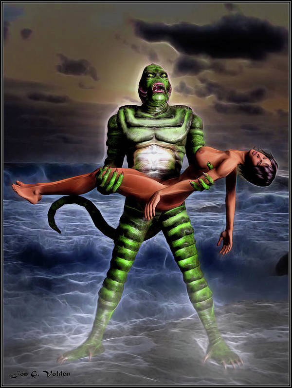 Creature Art Print featuring the photograph Revenge Of The Creature by Jon Volden