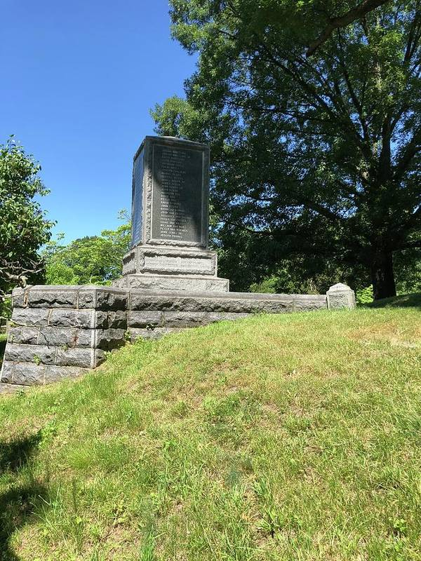 This Is The Backside Of The Revolutionary War Monument At The Sleepy Hollow Cemetery Art Print featuring the photograph Revolutionary War Monument by William Rogers