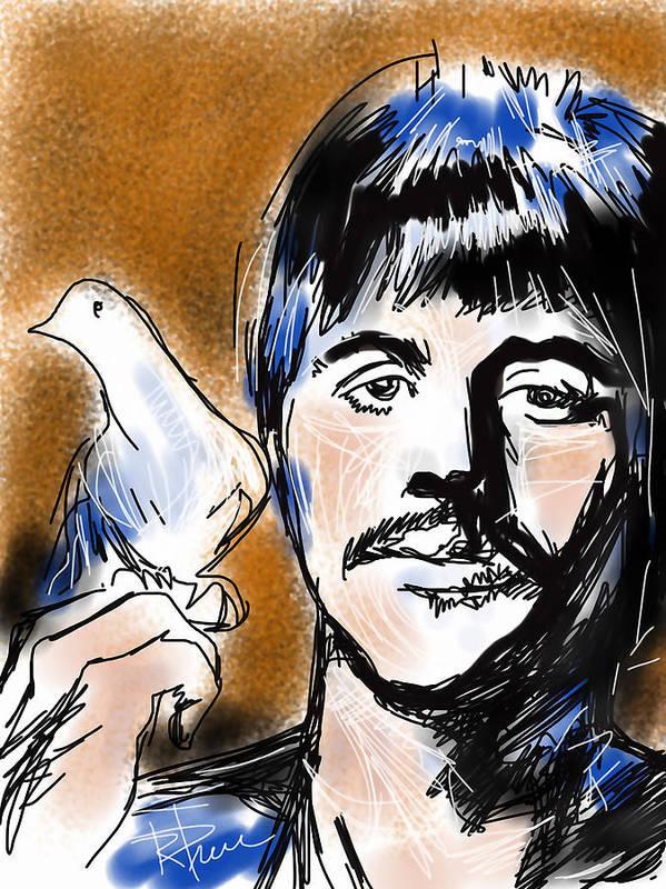 Ringo Art Print featuring the digital art Ringo by Russell Pierce