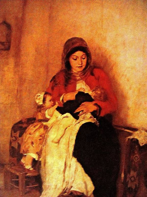 Mother Art Print featuring the painting Rs08 by Roberto Simeroni