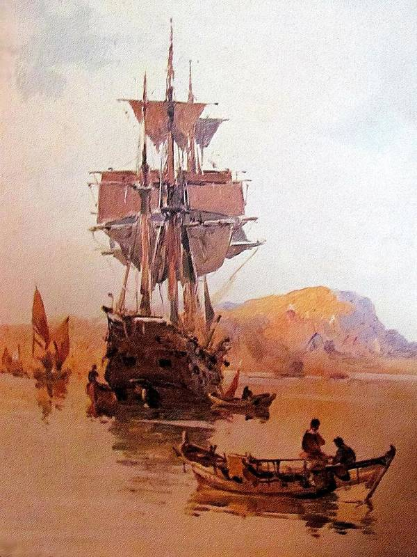 Ship Art Print featuring the painting Rs21 by Roberto Simeroni