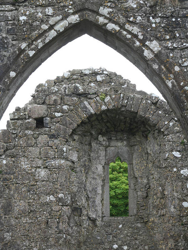 Ireland Art Print featuring the photograph Ruins Of A 9th Century Monastery In Ireland by Beverlee Singer