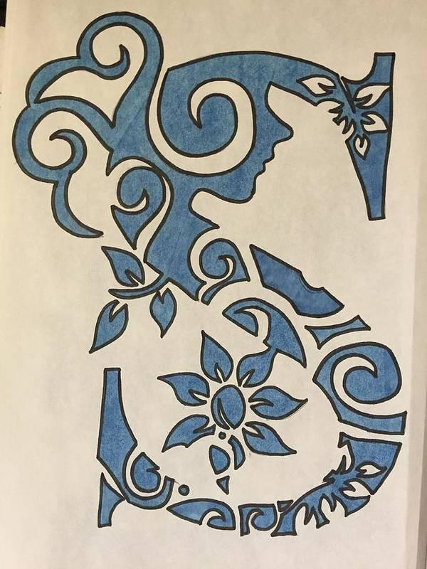 Letter Art Print.S Letter Art Print