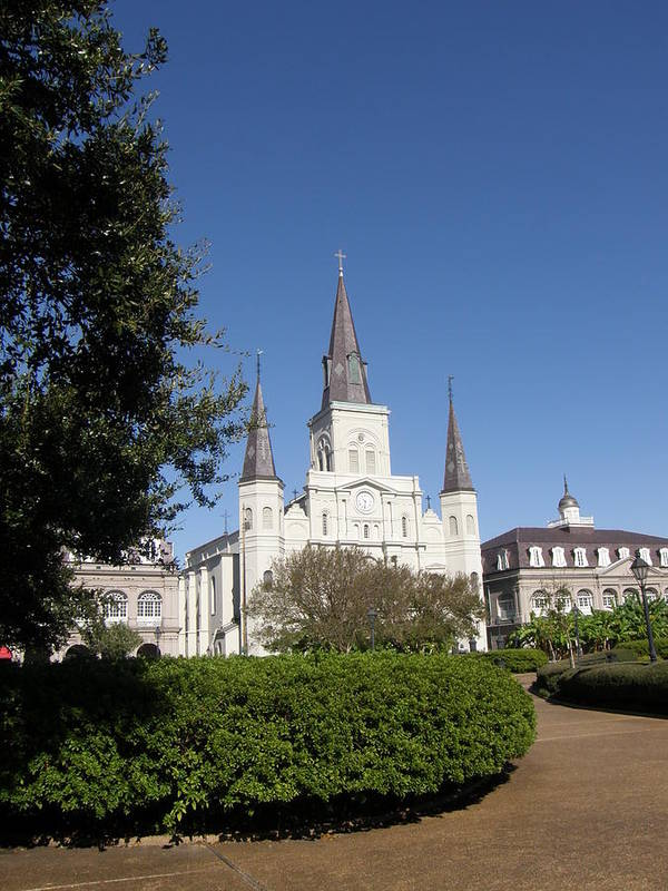 New Orleans Art Print featuring the photograph Saint Louis Cathederal 2 by Jack Herrington