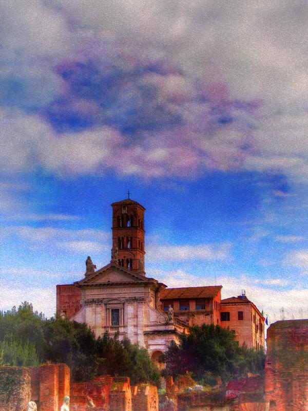 Santa Art Print featuring the digital art Santa Francesca Romana 2 by Darin Williams
