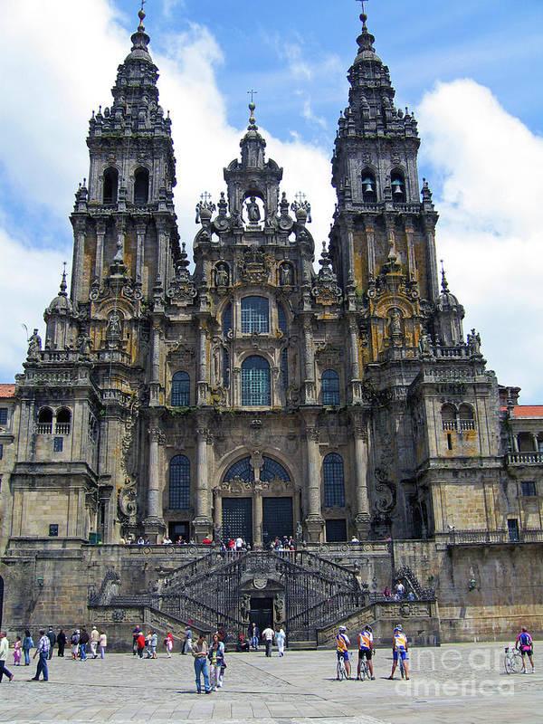 Catholic Art Gallery - Art Group Art Print featuring the photograph Santiago De Compostela by Nieves Nitta