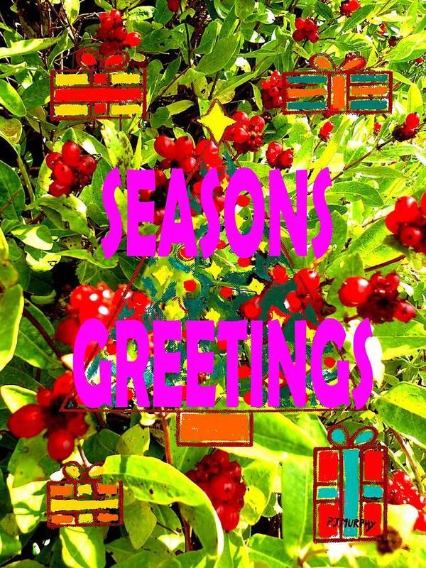 Christmas Art Print featuring the painting Seasons Greetings 10 by Patrick J Murphy
