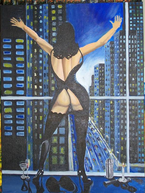 Woman Art Print featuring the painting Seduction by Charles Vaughn