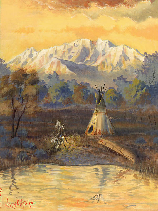 Ute Art Print featuring the painting Seeking The Divine by Jeff Brimley