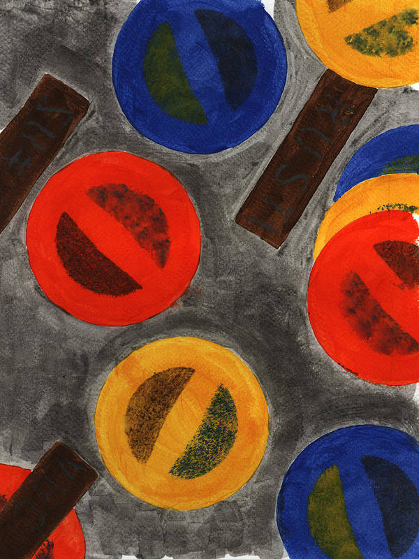 Abstract Painting Art Print featuring the painting Segments 4 by David Townsend