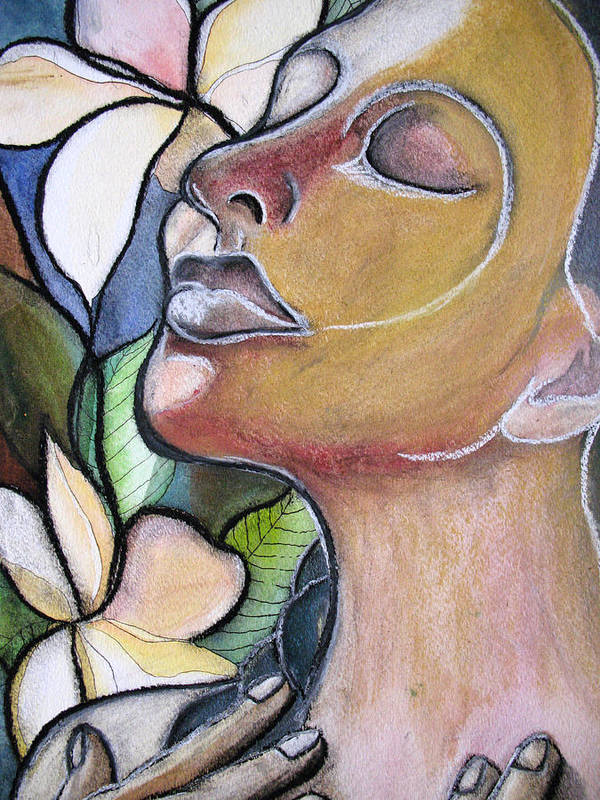 Woman Art Print featuring the painting Self-healing by Kimberly Kirk