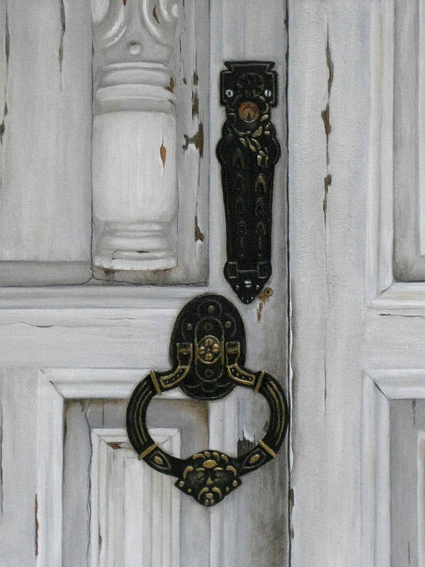 Old Door Art Print featuring the painting Senor Cuellos' Door by Birgit Coath - AFCA