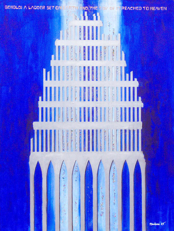 Judaica Art Print featuring the painting Shattered by Mordecai Colodner