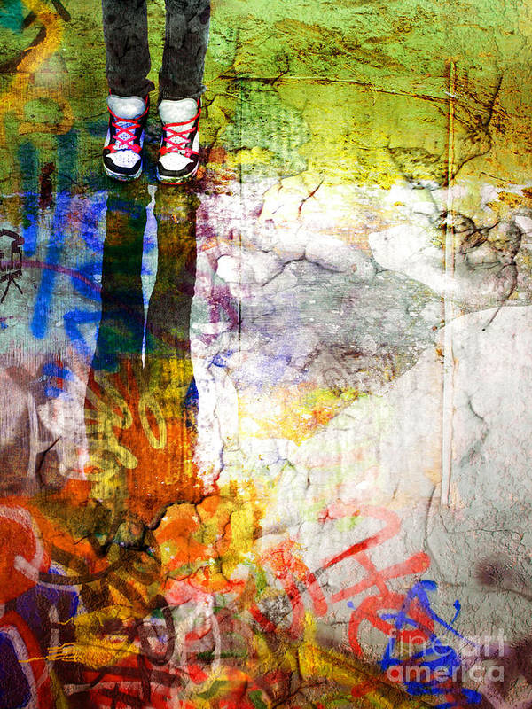 Shoes Art Print featuring the photograph She Lives In A Box Of Paint by Tara Turner